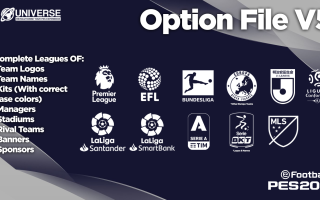 PES 2020 «PC Compilation Option File MLS DLC 5.00 by Ruitrind2